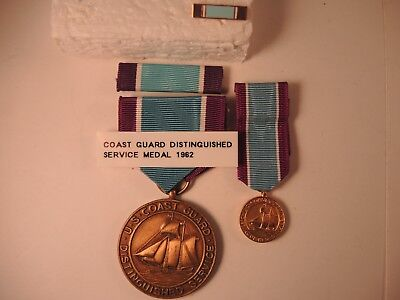 Coast Guard distinguished service medal ribbon bar lapel pin miniature not  named | eBay