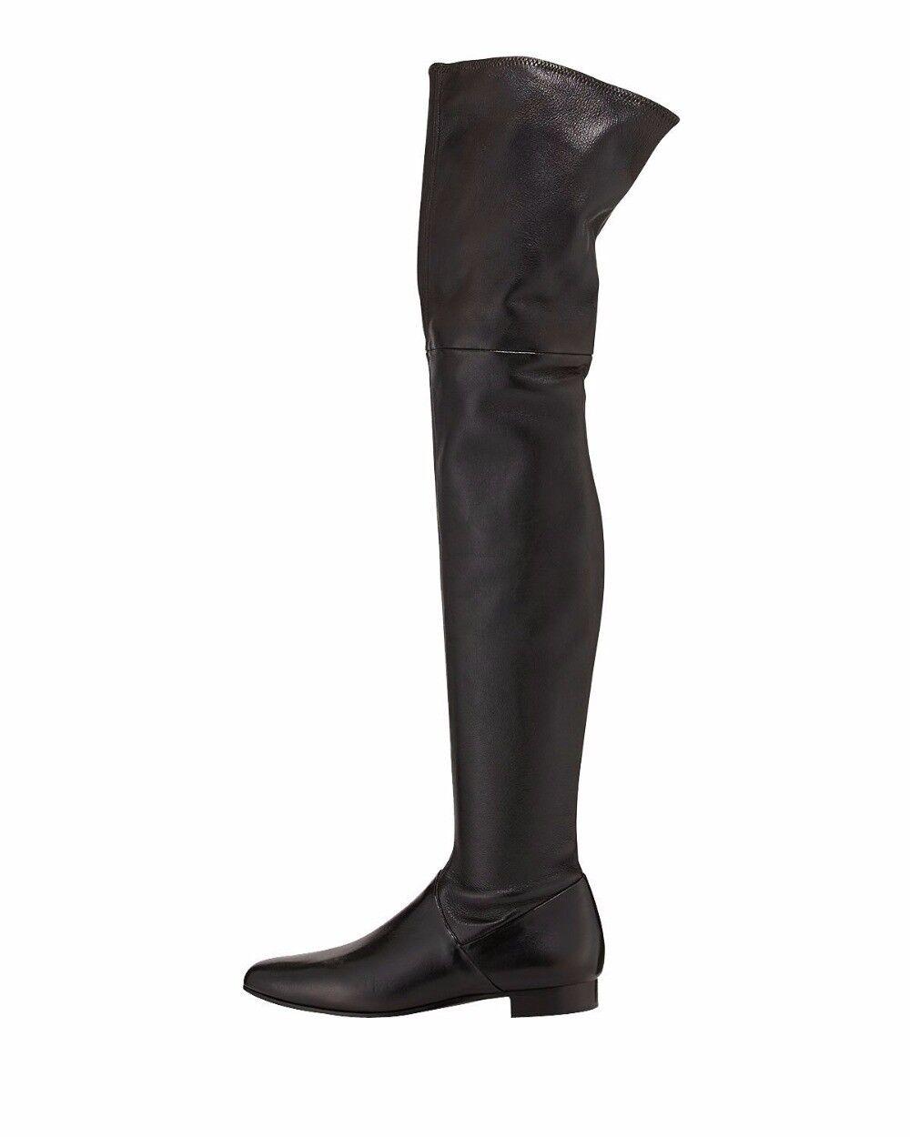 economico e di alta qualità Winter donna Round Toe Flat Over Over Over Knee stivali Thigh High Zip Up  nero Big Dimensione  prezzo basso