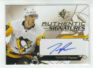 T-PEARSON-PITTSBURG-18-19-SP-NOT-SPA-AUTHENTIC-SIGNATURES-AUTOGRAPHED-CARD