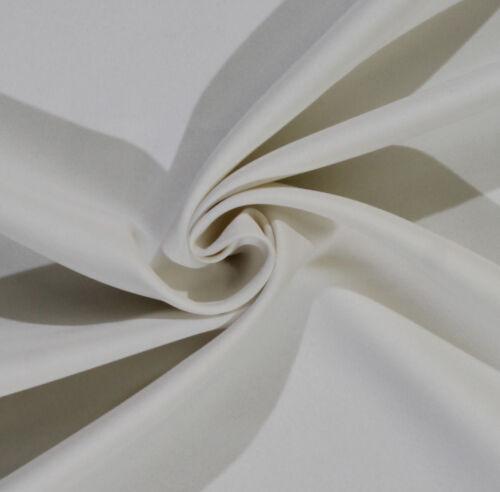 "72/"" Easy Care Visa Poplin Ecru Soil//Stain Resistant Polyester Fabric BTY D253.01"