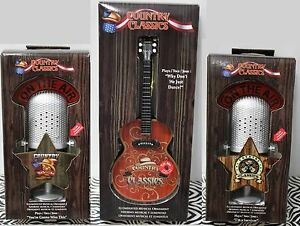 3 Set Country Music Microphone Amp Guitar Musical Christmas