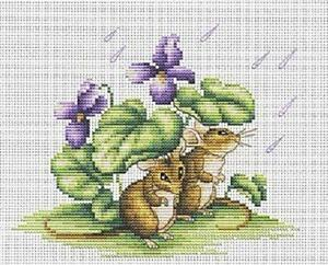 Cow Cross Stitch Kit By Luca S Ideal For Beginner 9cm x 9cm On 14 Count Aida