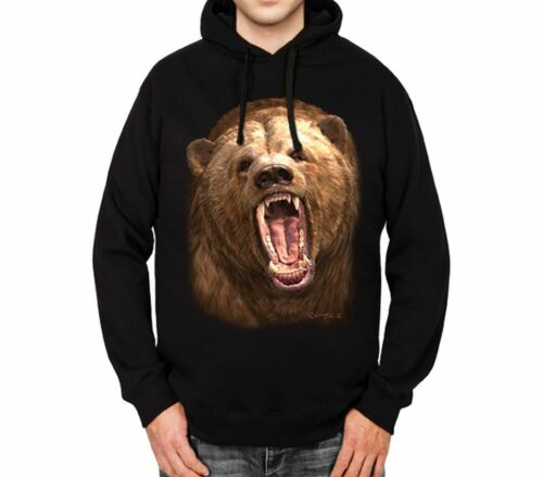 Grizzly Bear Mens Hoodie S-3XL