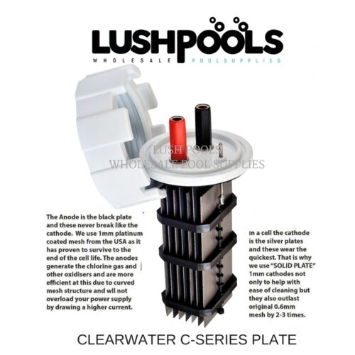 Clearwater Zodiac C250 C330 Generic Salt Cell Solid Plate HS7000 5yr Warranty
