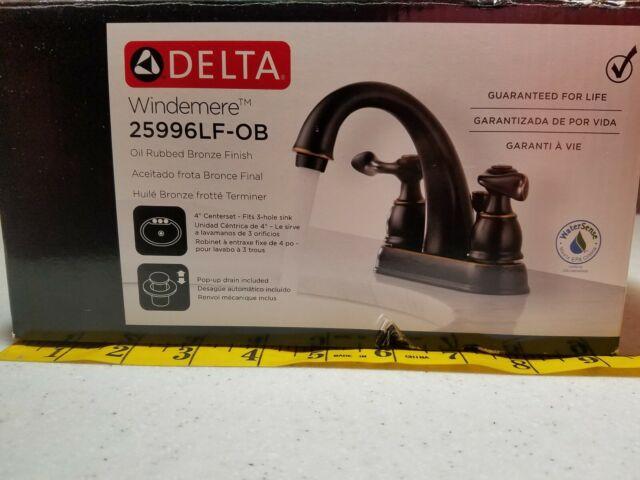 DELTA FAUCET 25996LF-OB-ECO Windemere Lavatory Faucet 2-Handle Centerset,