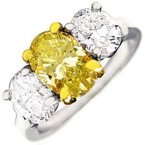 bd36ea49b8dfef Internally Flawless Fancy Yellow 3.30 CTW Oval cut Diamond GIA ...