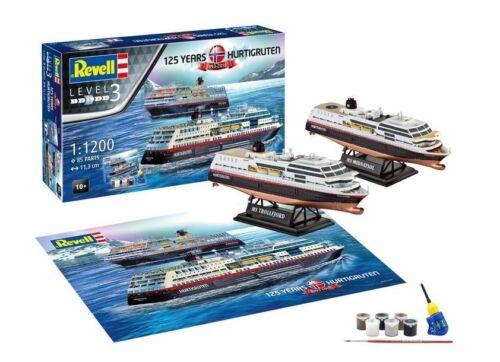 Revell Geschenkset 125 Jahre Hurtigruten 1:200 Revell 05692   .