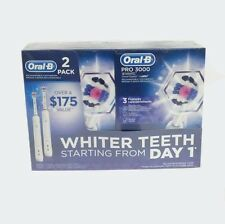 Oral-B Pro 3000 3D White Smartseries Rechargeable Toothbrush w/ Bluetooth-2-Pack