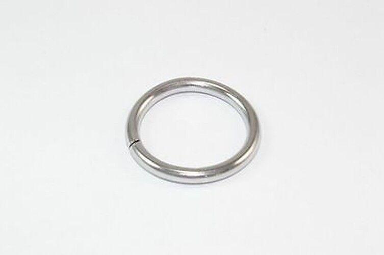 2 pk of 5 Mm Internal Dia. Curtain Rod Rings Polished Chrome Metal - QTY 120