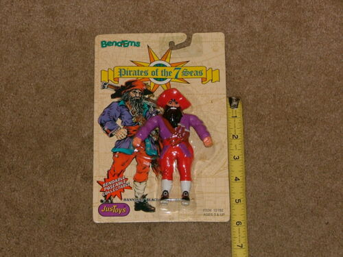 """Pirates of the 7 Seas Hannibal Blackheart Justoys Just Toys  1992 NOS 5/"""""""