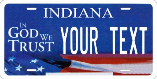 Indiana 2012 License Plate Personalized Custom Car Bike Motorcycle Moped Tag