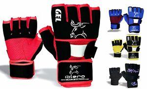 EVO Fitness Neoprene Gel Interno Guanti MMA Boxe Formazione Polso Sostegno Wraps