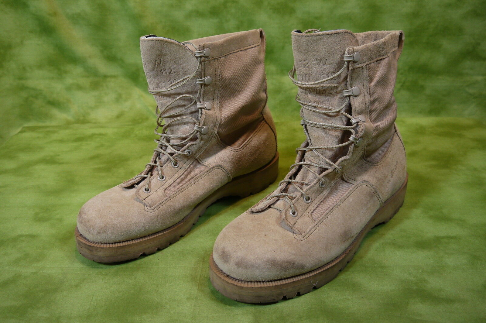 Wellco US Military Boots Desert Tan Men's 12 W around 10