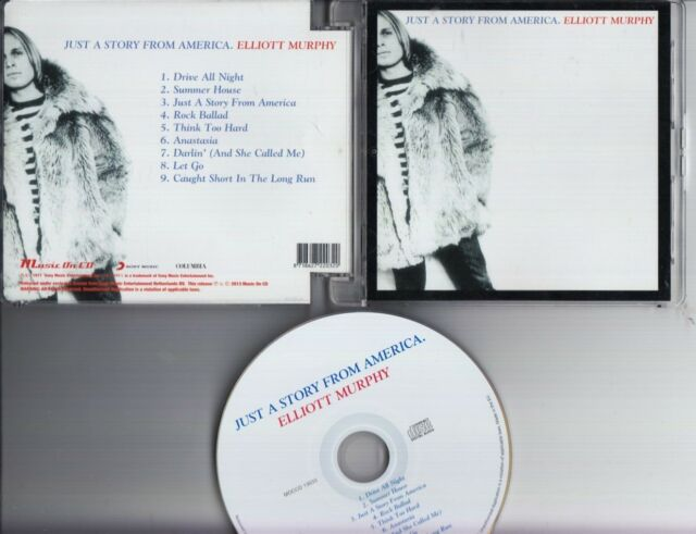 ELLIOTT MURPHY Just A Story From America USA CD MUSIC ON CD SONY COLUMBIA