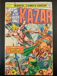KA-ZAR-8-1975-MARVEL-Comics-GD-Book