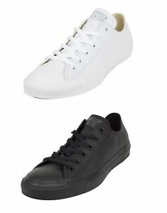 b08b38cdce1f Converse Chuck Taylor All Star Ox Low Top Mono White Leather Unisex ...