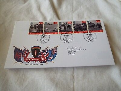 Royal Mail First Day Cover D-day 6 June 1944 6 June 1994 Great Britain Stamps