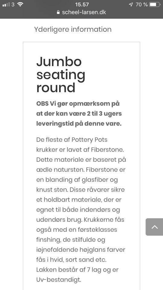 Bænk, Jumbo seating, Fiberstone