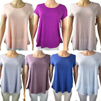 Gilligan O'malley Womens Short Sleeve Fluid Knit Solid Color Sleep Shirt
