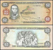 Jamaica $2 Dollars, 1990, P-69d, UNC