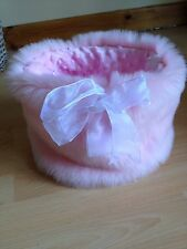 CHIHUAHUA DOG PET BED PINK FAUX FUR PUPPY POCKET SNUGGLE SACK BAG 🇬🇧🇬🇧