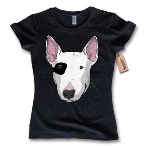T-shirt femmes L XL bullterrier Oldschool Chien 100/% coton noir s