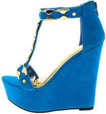8dfd461ea350d item 1 Open Toe Gold accent T-Strap Platform Gladiator Wedge High Heel  Sandal Size W18 -Open Toe Gold accent T-Strap Platform Gladiator Wedge High  Heel ...