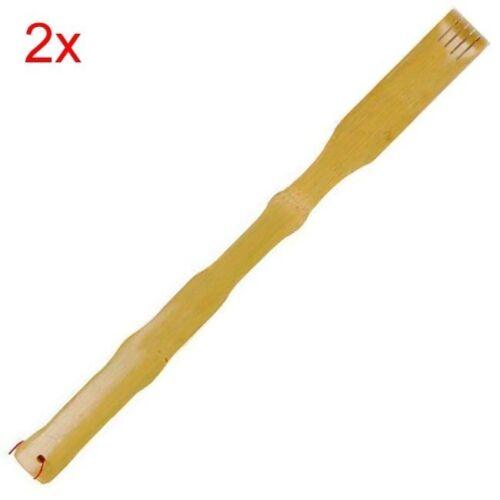 2x Bamboo Back Scratchers 17.5in S-3665x2
