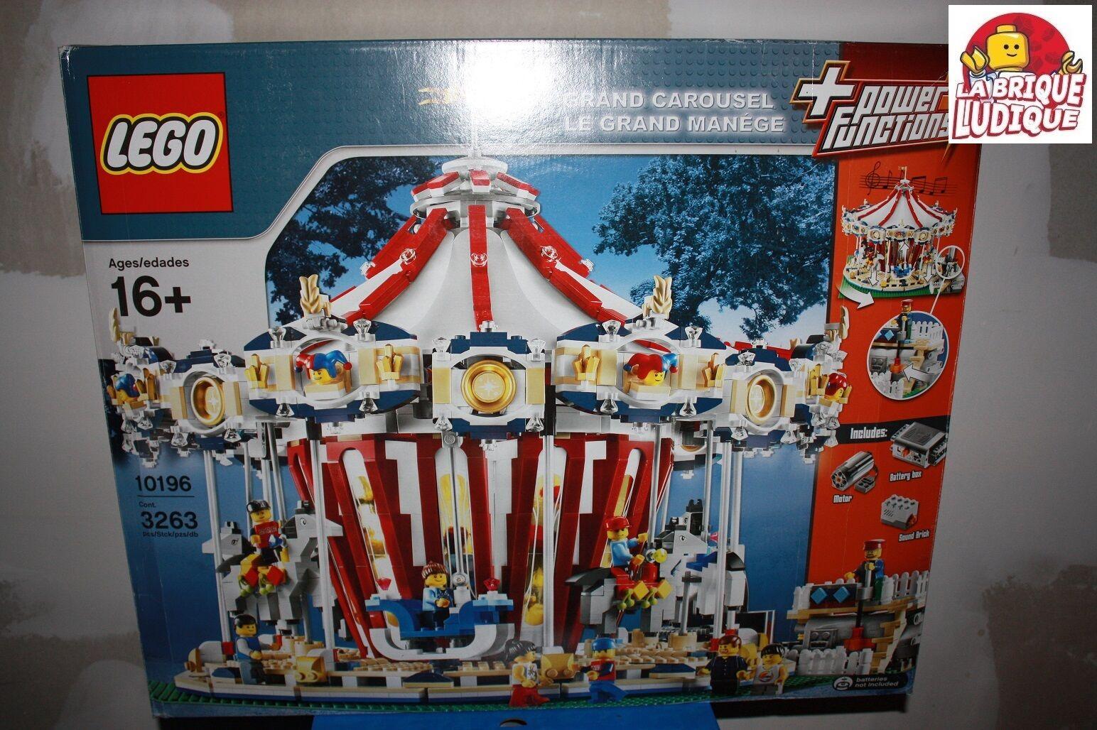 Lego - boite grand carousel carrousel manège rare collector 10196 NEUF