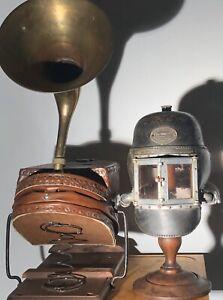 Antique Industrial Fireman Siebe Gorman Smoke Gas Helmet Bellow Rare Circa 1878