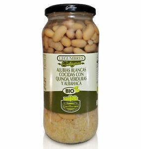 Guillermo Alubias Blancas Cocidas Quinoa Verduras Albahaca Ecológicas BIO Extra