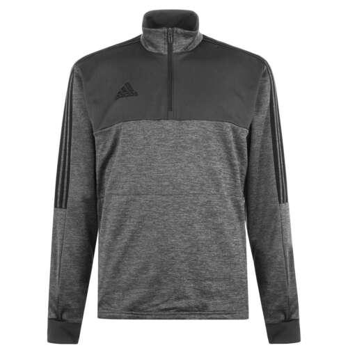 adidas Mens Winter Zip Top Drill Long Sleeve High Neck Lightweight Half Stripe