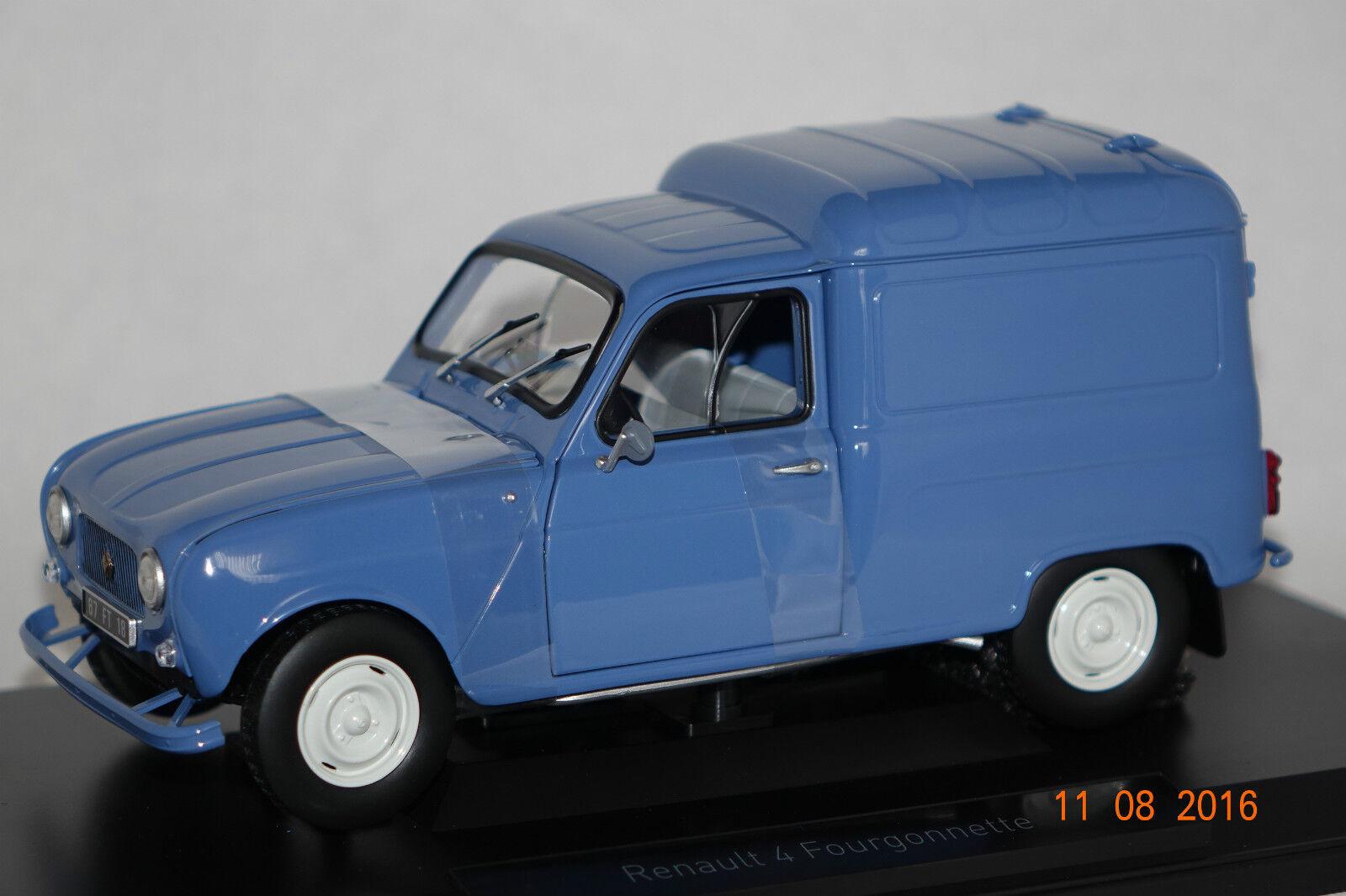 Renault 4 fourgonnette 1965 bleu 1 18 NOREV NOUVEAU & OVP 185188