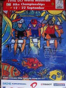 Original poster World MTB championships 1996 Australia Cairns - France - Amazing official poster UCI world MTB championships Cairns Australia, 1996 Never seen and great poster collector for specialists Full collor great conditions !! only one unit available ! super poster des championats du monte de VTT en Australie,  - France