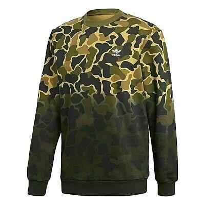 Adidas Originals Camo Crew Camouflage Crewneck Sweatshirt S 2XL Mens CE2463 | eBay