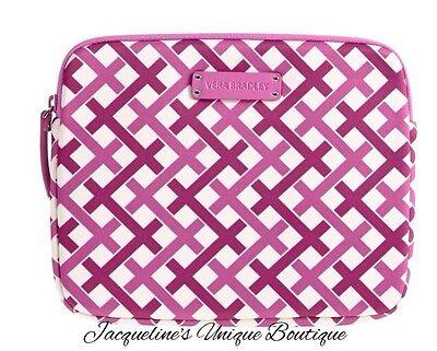 NEW Vera Bradley Neoprene Tablet Sleeve in Julep Tulip Pink NWT MSRP $48