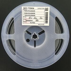 10Pcs-Tantalum-Capacitor-SMD-6-3V22UF-22UF-6-3V-NEC-TEESVP0J226M8R-0805-P-type