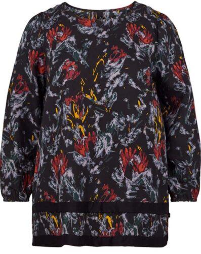 Dunkelblau Gr Tunika Print Allover Adia 52 50 Fashion l Floraler w1awEY