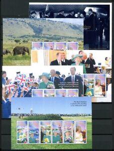 Guernsey-H-Blaetter-MiNr-70-74-postfrisch-MNH-Queen-Elizabeth-II-RS1482