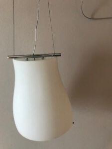Design-Saphierglas-matt-Deckenleuchte-E27-Esstischlampe-Wohnzimmerlampe-LED