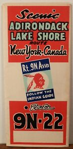 22 Miles From Canada To Lake Placid Map 1955 Rt. 9N 22 Adirondack Lake Shore New York Canada route map