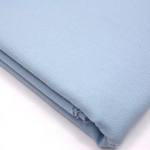 Jeans Twill Fabric Dressmaking Coloured Stretch Denim Pale Blue