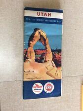 1960 ~ UTAH ~ CHEVRON ROAD MAP ~ Booklet Style