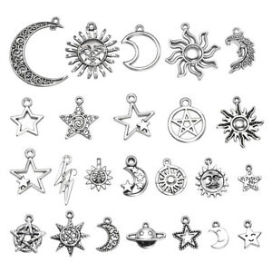 23pcs-Mix-Style-Star-Moon-Sun-Planet-Charm-Tibet-Silver-Pendant-Bracelet-Beads