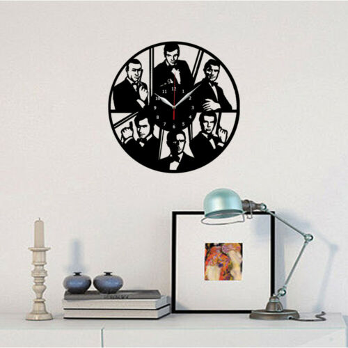30cm 284 James Bond Agent 007 Vinyl Record Wall Clock Fan Art Decor 12/'/'