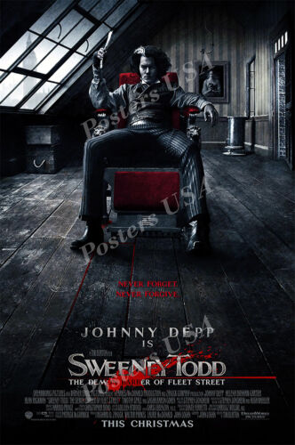 Posters USA MOV796 Sweeney Todd Movie Poster Glossy Finish