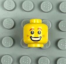 Lego 1x polybag head head smile man fear scared scar 3626cpb2454 new