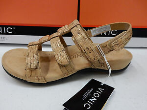 a5ed8623a2c3 Image is loading VIONIC-WOMENS-SANDALS-AMBER-GOLD-CORK-SIZE-8