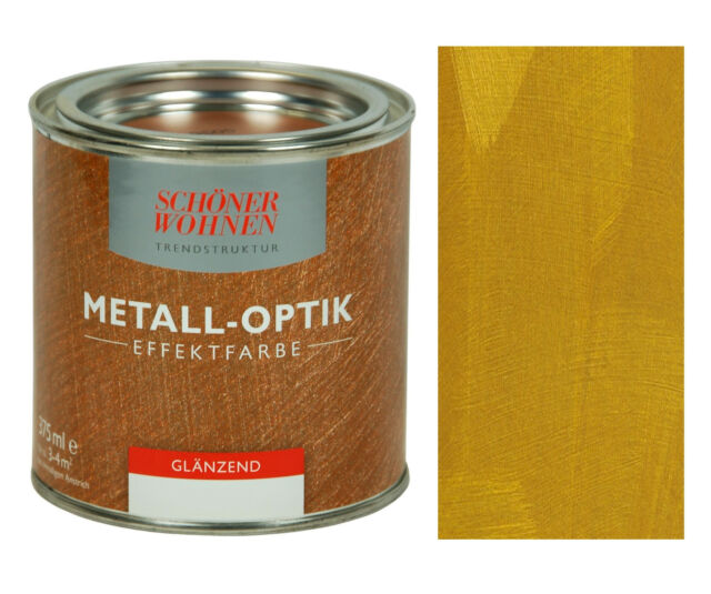 Metall Effekt Wandfarbe: Metall-effekt- Effektfarbe Gold 375 Ml Günstig Kaufen