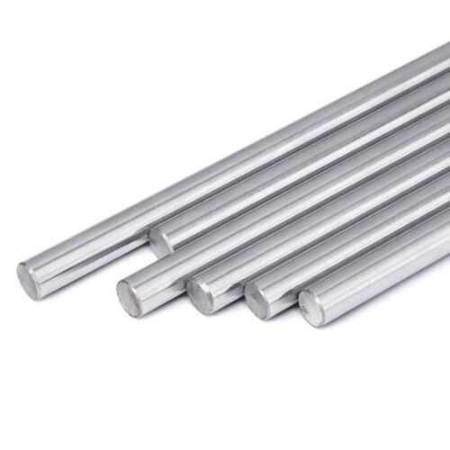 8mm Diámetro Eje de movimiento lineal endurecido ahumados longitud 100-600mm para la impresora 3D CNC